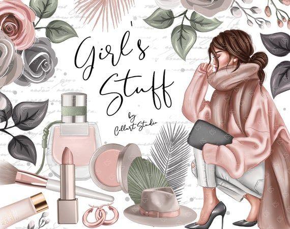 Fashion Illustrations cozy fashion planner stickers autumn | Etsy