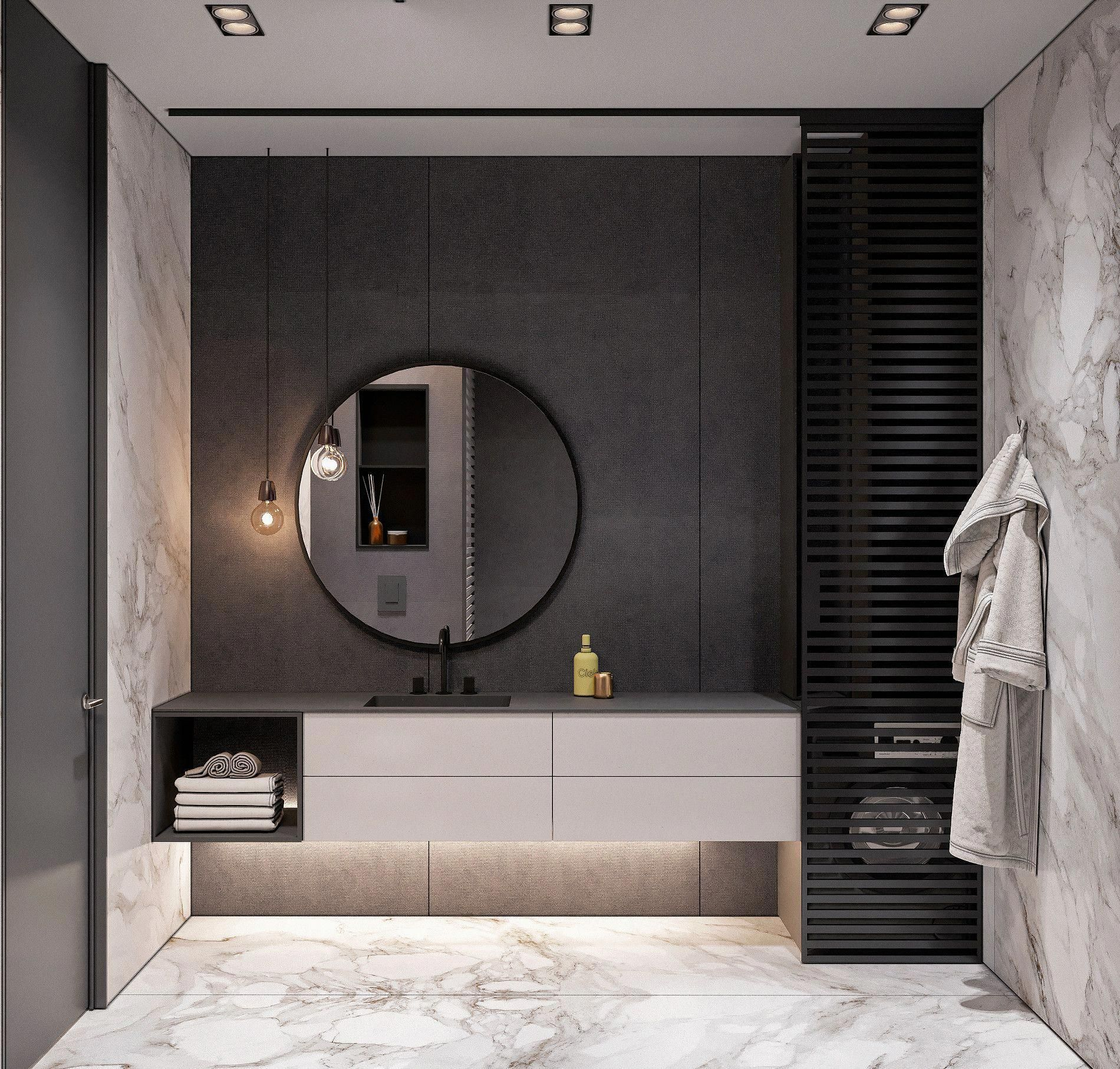 31 Restroom Lighting Concepts For Each
