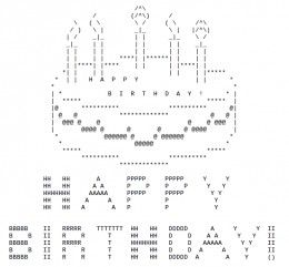 happy birthday ascii text art emoji happy birthday birthday