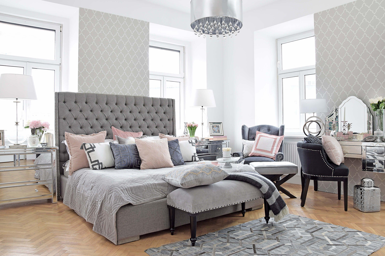 21 Schlafzimmer deko ideen grau