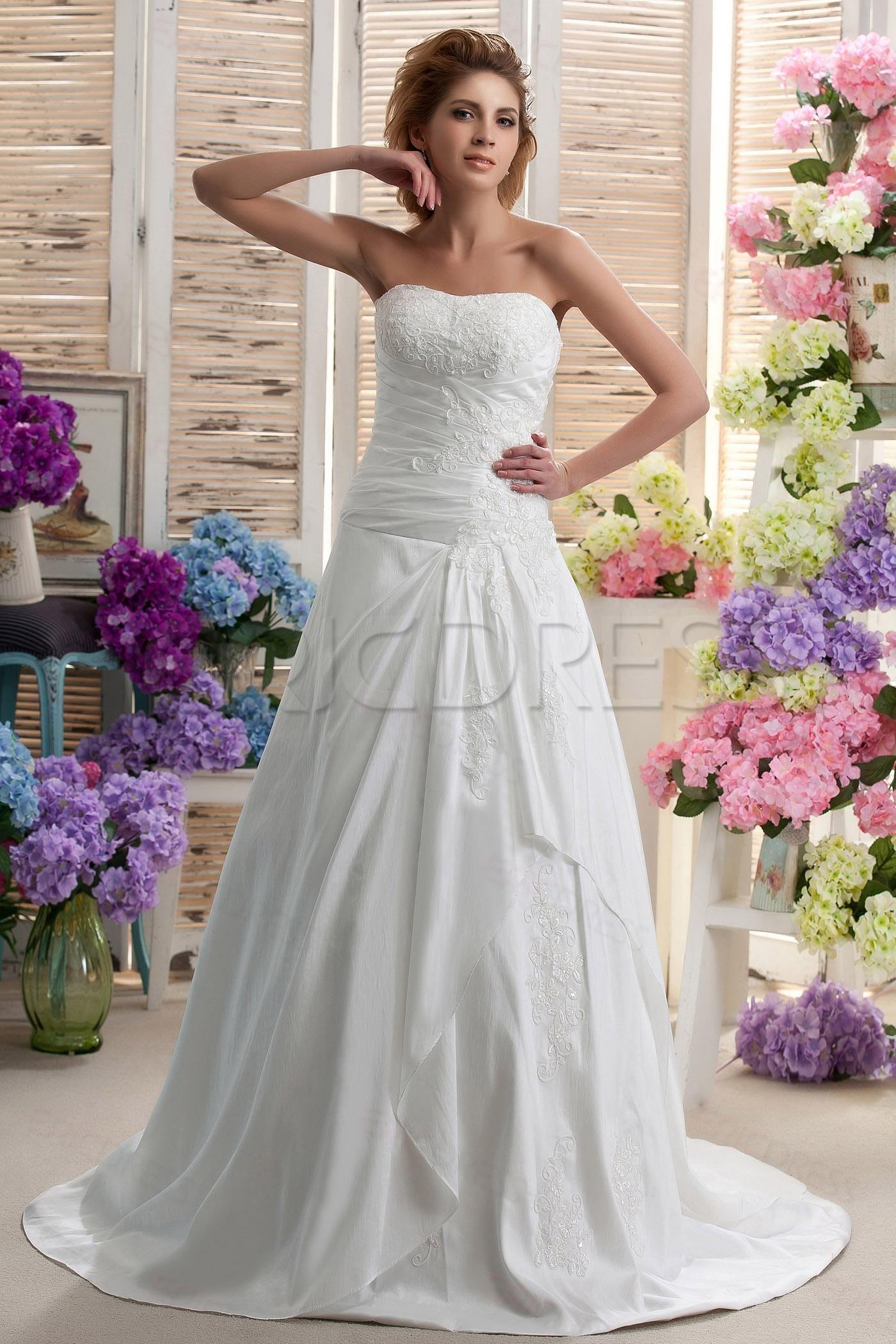 Fancy ALine/Princess Sweetheart Chapel Ruched Nastyas