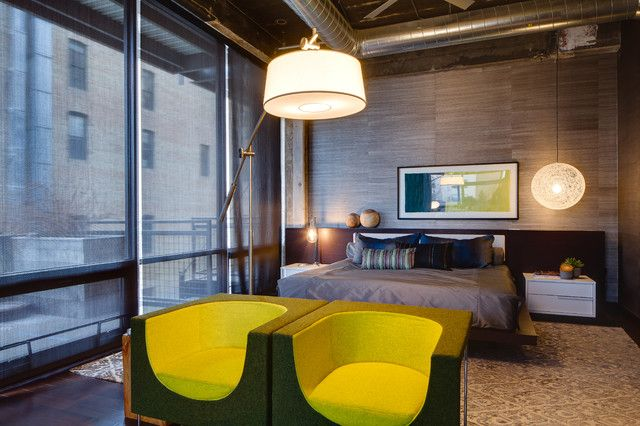 industrial lofts bedrooms - Google Search
