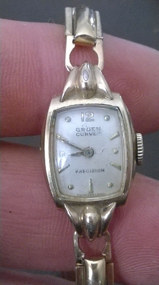 Vintage Ladies Gruen Curvex Precision Art Deco 10k Gold Filled Running Vintage Ladies Vintage Watches Women Vintage