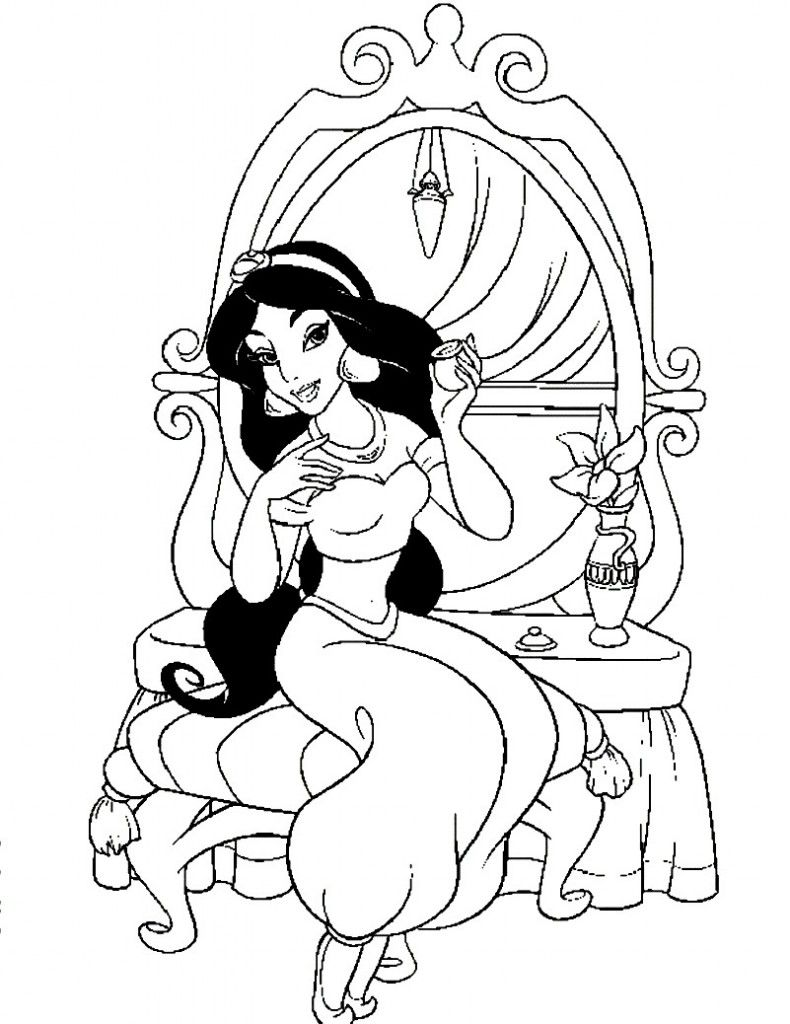 Free Printable Jasmine Coloring Pages For Kids Best Coloring Pages For Kids Mermaid Coloring Pages Princess Coloring Pages Fairy Coloring Pages