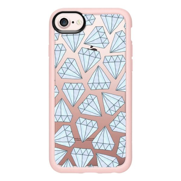 Ice Blue Diamante - iPhone 7 Case And Cover (615 ARS) ❤ liked on Polyvore featuring accessories, tech accessories, iphone case, iphone cases, blue iphone case, iphone cover case, apple iphone case and clear iphone case