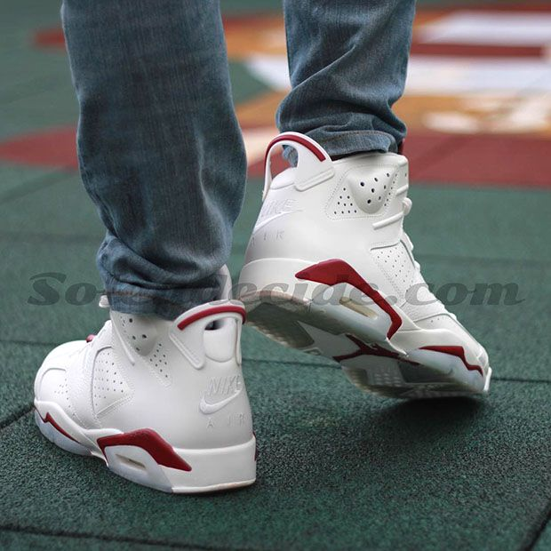 Air Jordan 6 Maroon On Feet Images Sneakernews Com Air