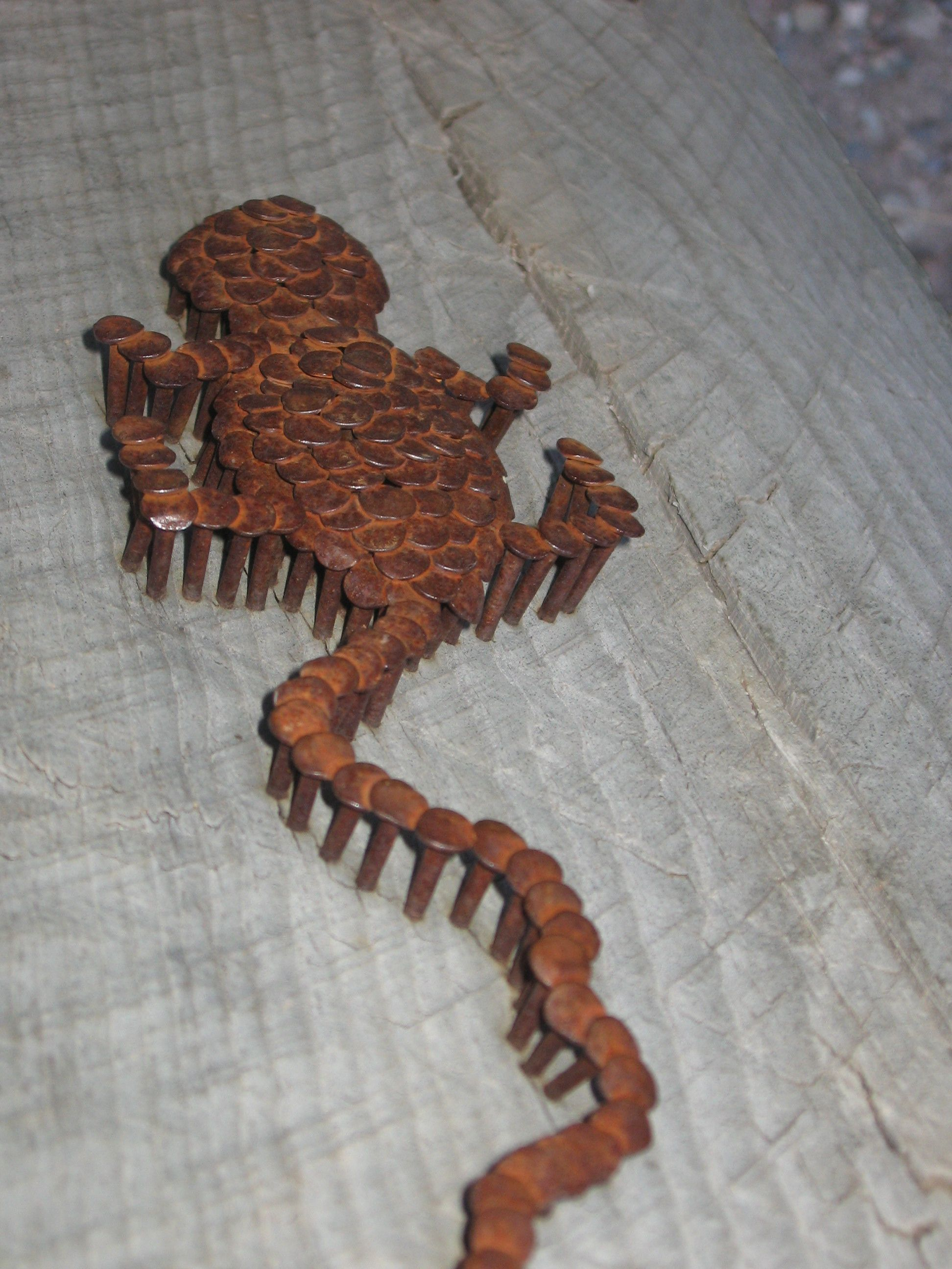 Rusty nails metal flower pinterest metals craft and welding
