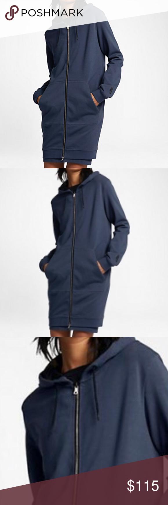 Nikelab long womens fleece full zip up hoodie XS