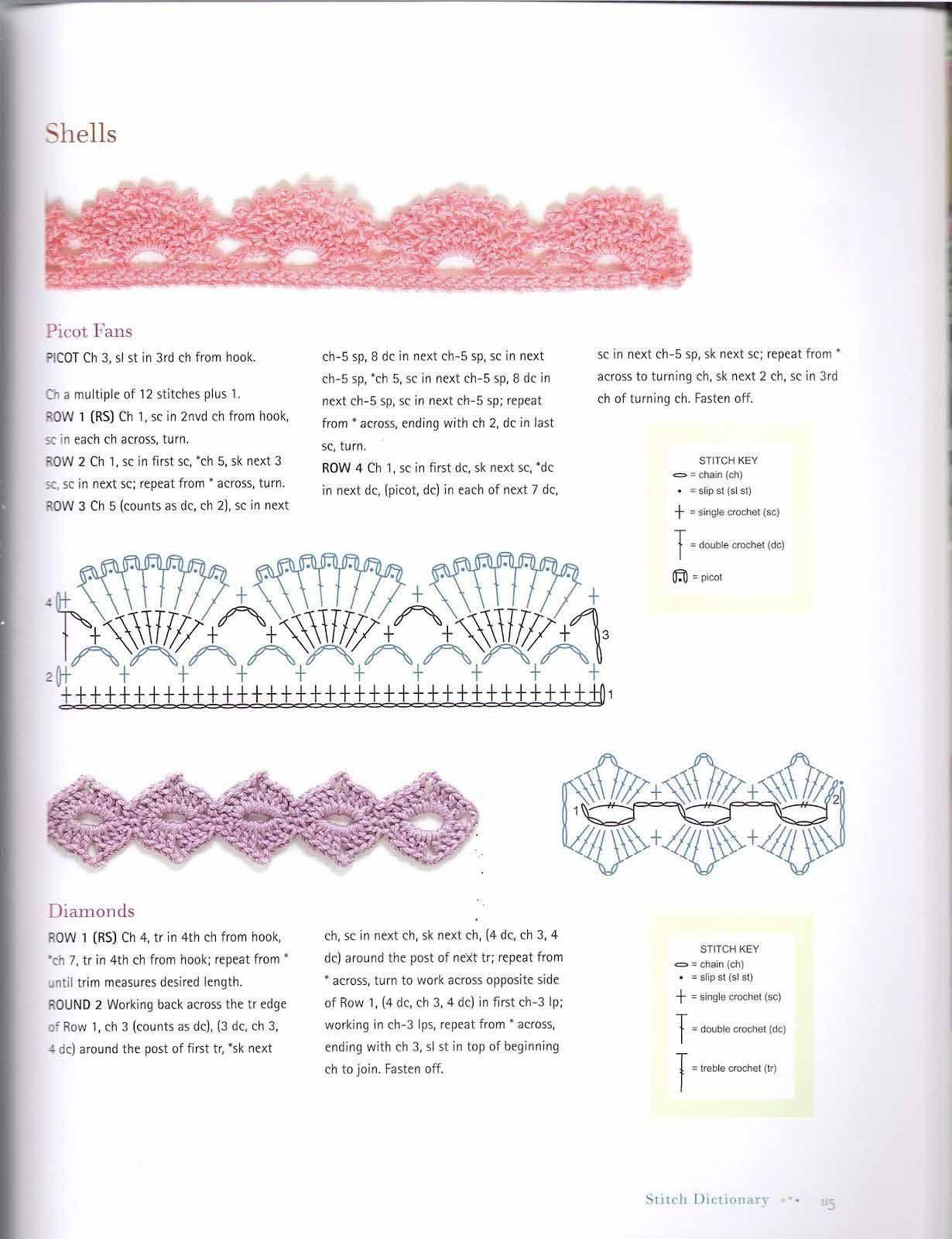 Bordes, puntillas crochet | edge | Pinterest