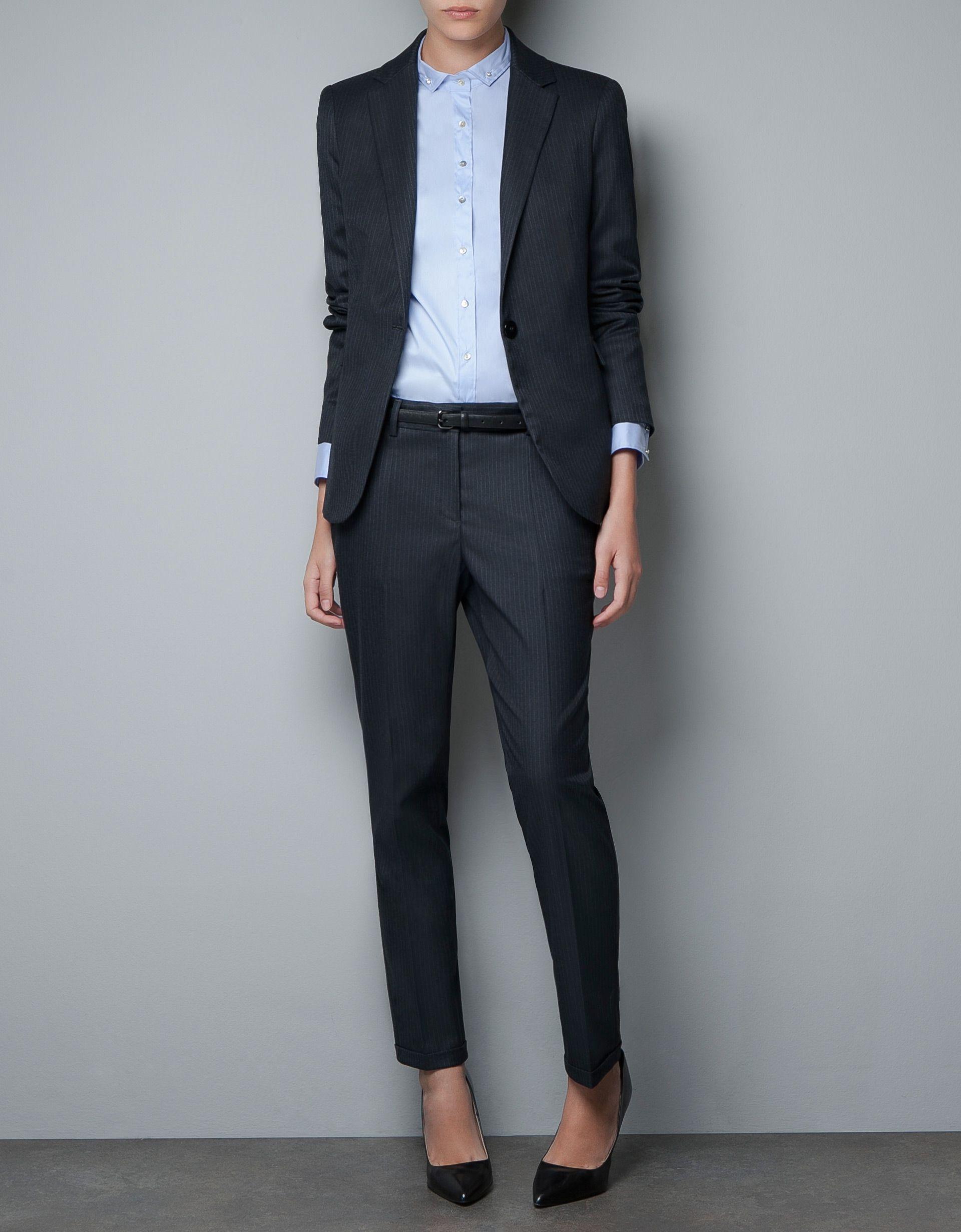 Veste tailleur noir femme zara