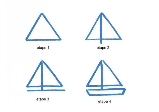 dessin simple bateau