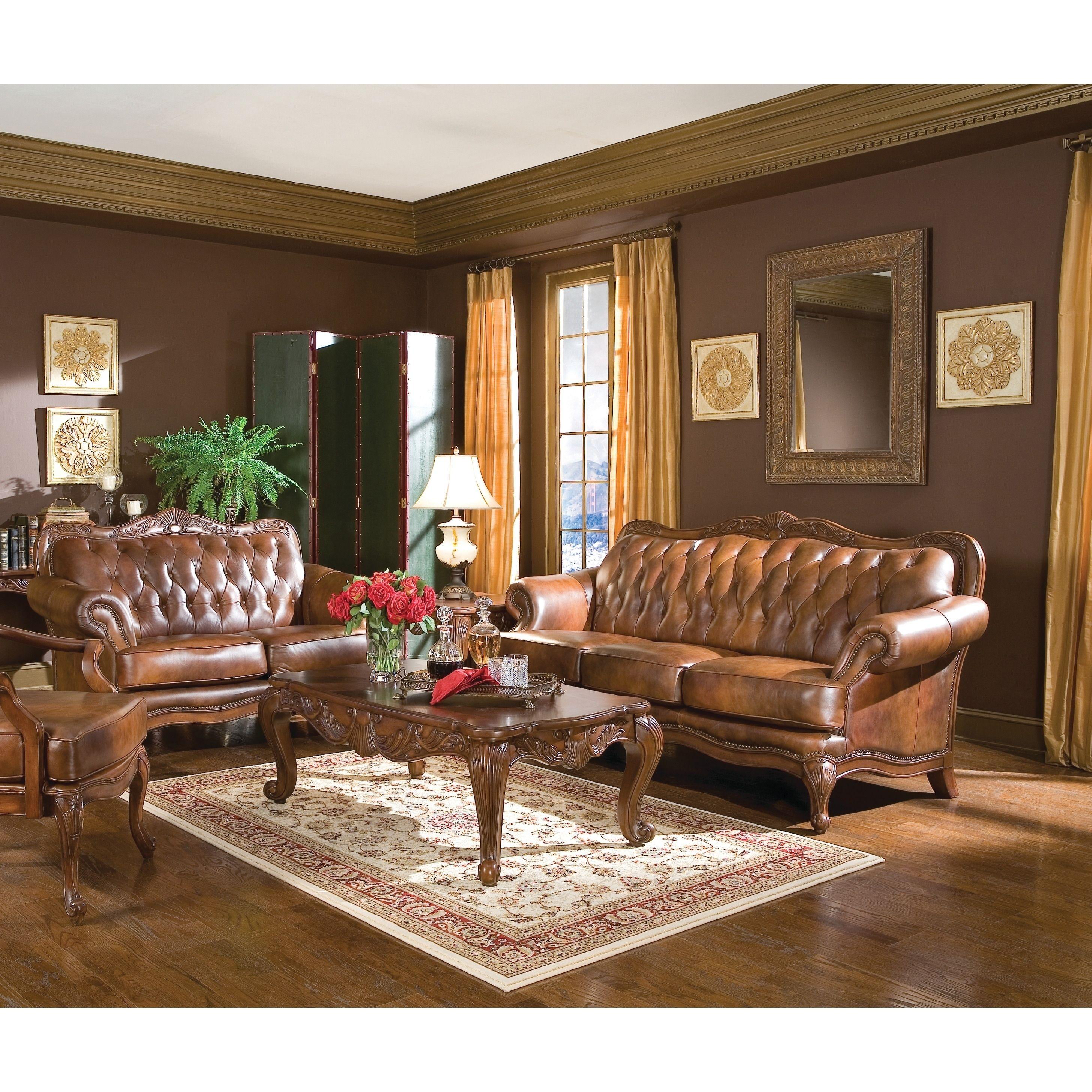 Best Victoria Traditional Tri Tone 3 Piece Living Room Set 400 x 300