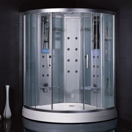 Zen Brand New Computerized 2 Person Walk In Steam Shower Steam Shower Enclosure Shower Enclosure Kit Shower Enclosure