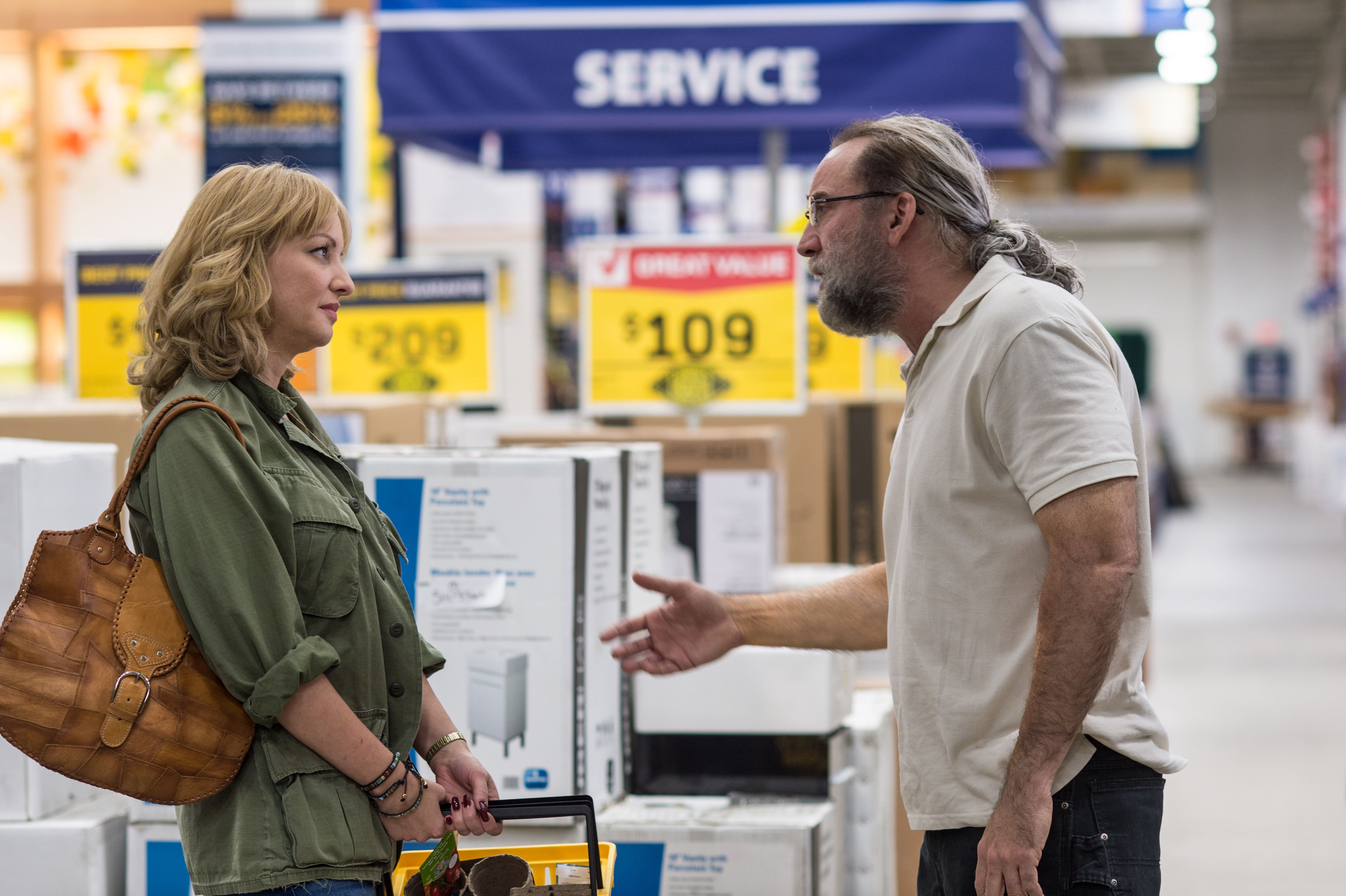 "Wendi McLendon-Covey and Nicolas Cage in ""Army of One"""