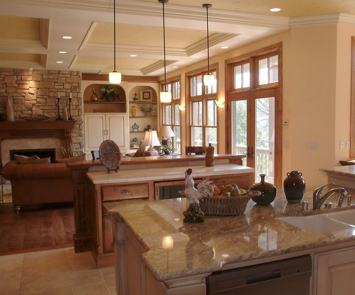 Large Open Concept Country Rustic Kitchen By Ware Design Build Rustic Chic Pinterest