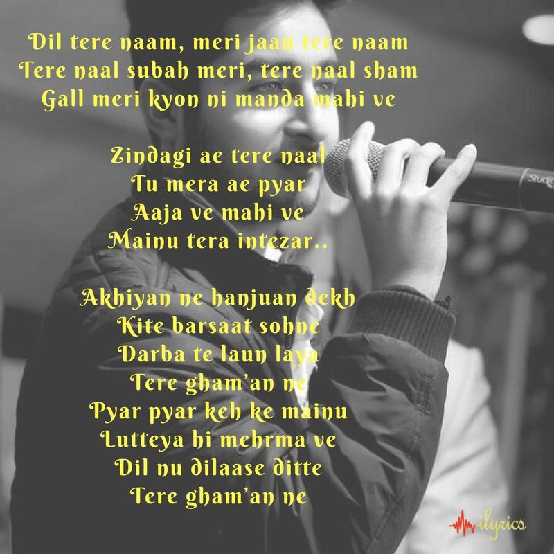 Zindagi Tere Naal Lyrics Lyrics Feelings Quotes Song Lyrics