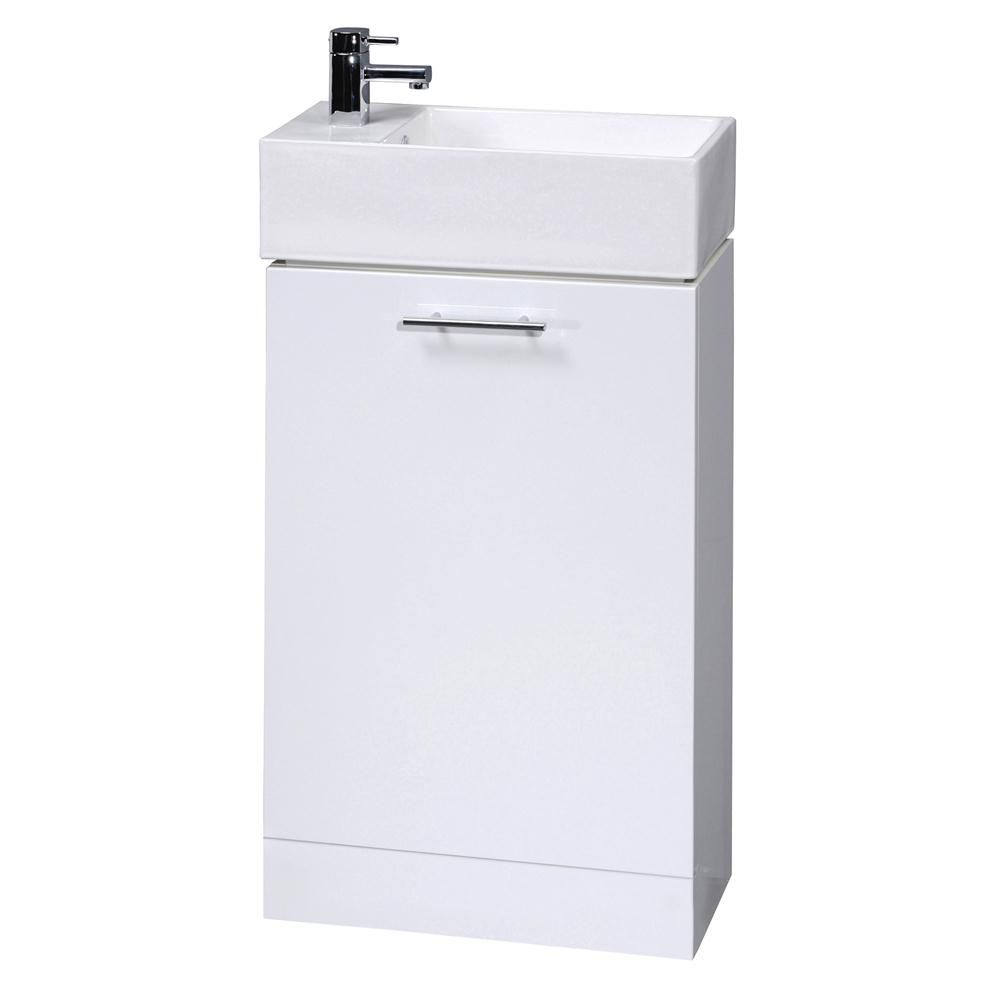 Premier Minimalist Compact Bathroom Vanity Unit 475mm W Compact Bathroom Basin Vanity Unit Bathroom Vanity Units