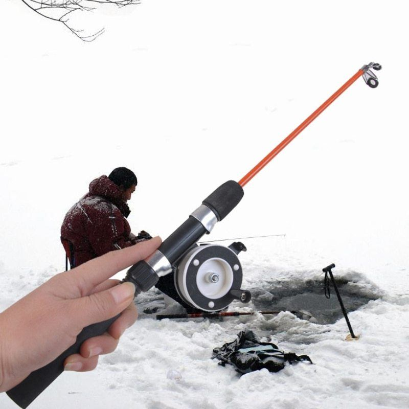 1pcs Winter Fishing Rods Ice Fishing Rods Fishing Reels To