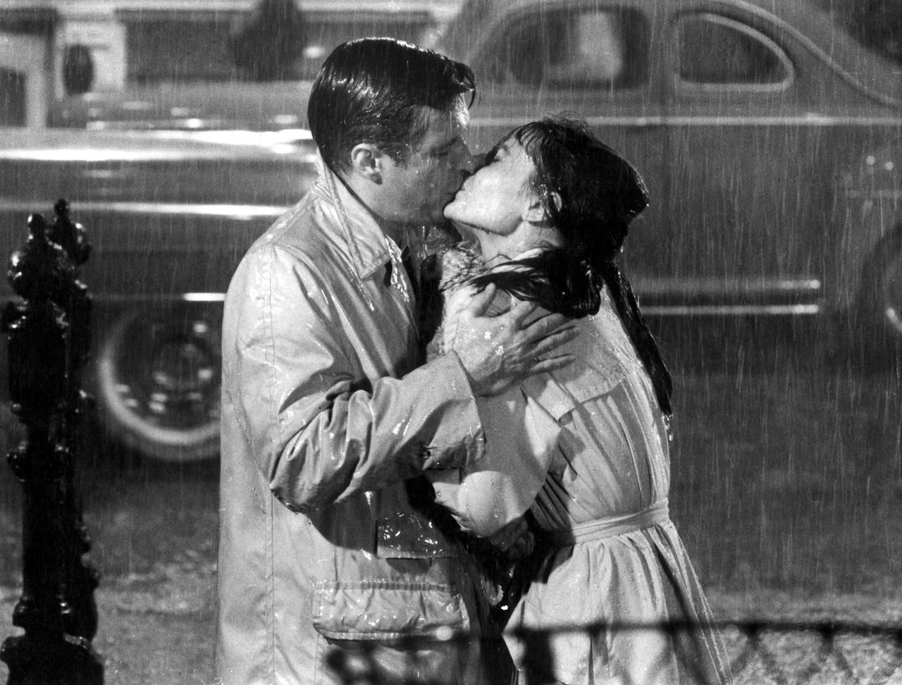 Audrey Hepburn and George Peppard in the 1961 film Breakfast at Tiffany's.