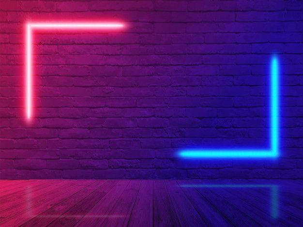 Neon Light Brick Wall Room In 2020 Neon Wallpaper Light Brick