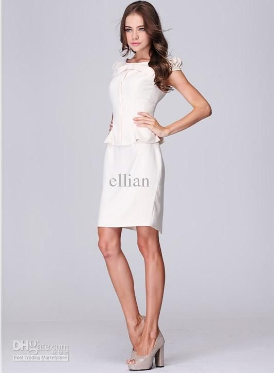 2013 fashion White elegant women dress work ware office lady ...