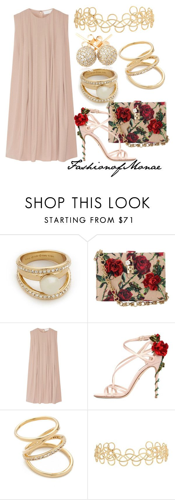 """""""Spring"""" by monaeoffashion ❤ liked on Polyvore featuring Kate Spade, Dolce&Gabbana, CO, Elizabeth and James, Acne Studios and Loushelou"""