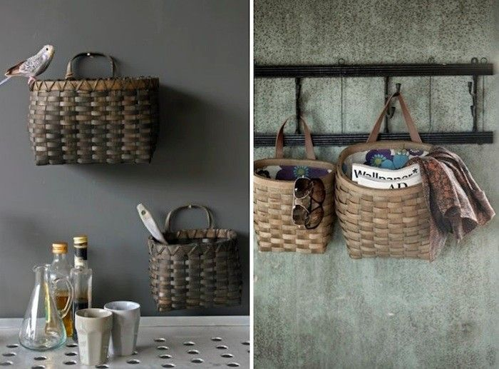 Browse Kitchens Archives On Remodelista Wall Hanging Storage Baskets On Wall Wall Basket Storage