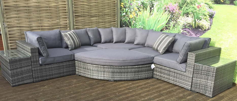 Grey Rattan Garden Furniture Grey Rattan Sofa Sets Furniture
