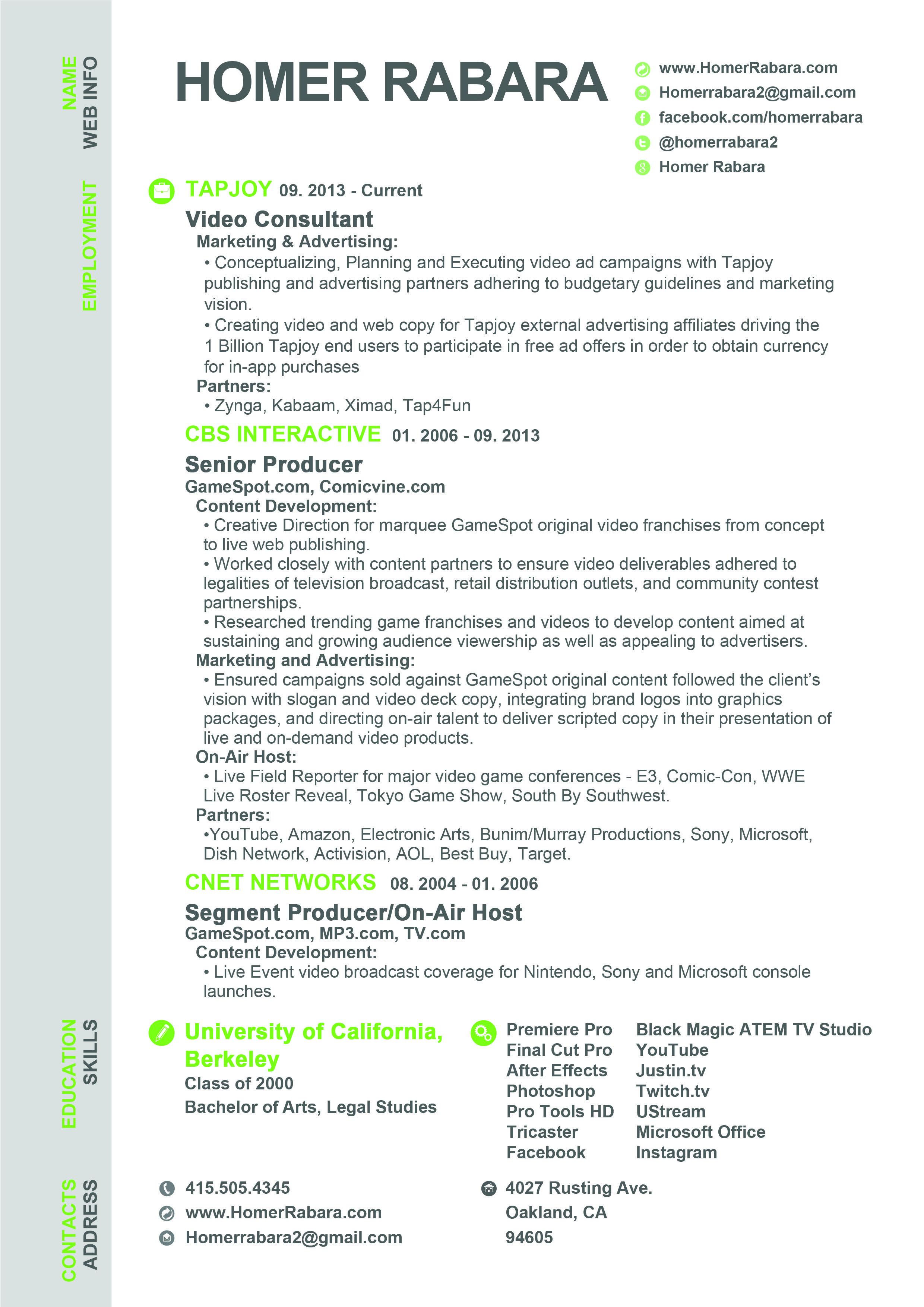 Resume Format Video Editor Resume Video Editor Resume Format
