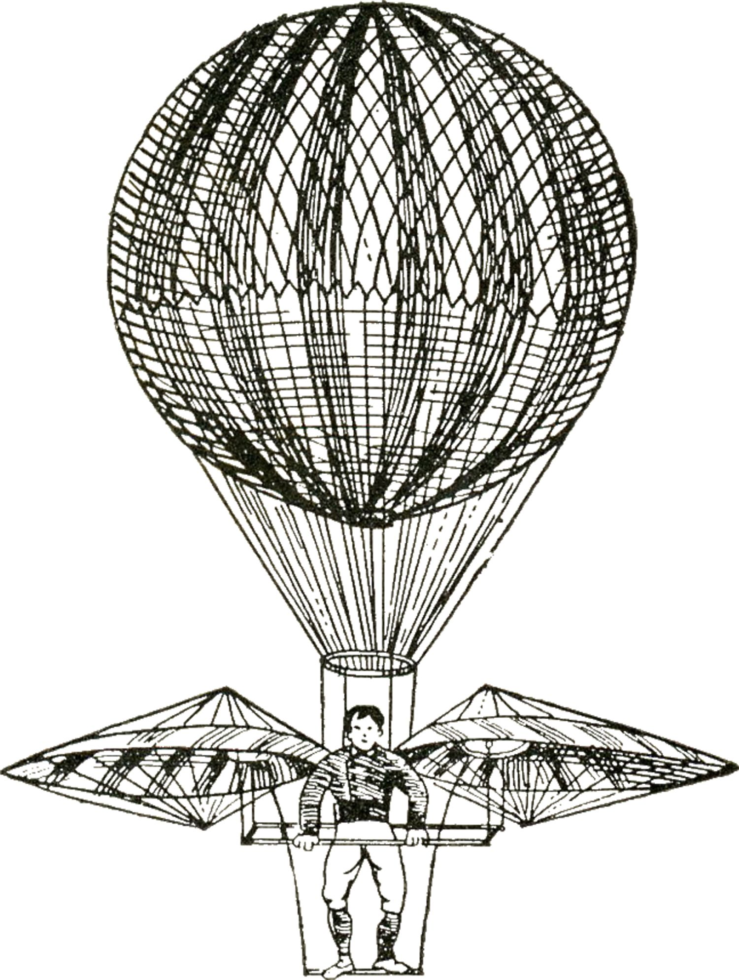 Vintage Images - Hot Air Balloons - Steampunk | Vintage images, Hot ...