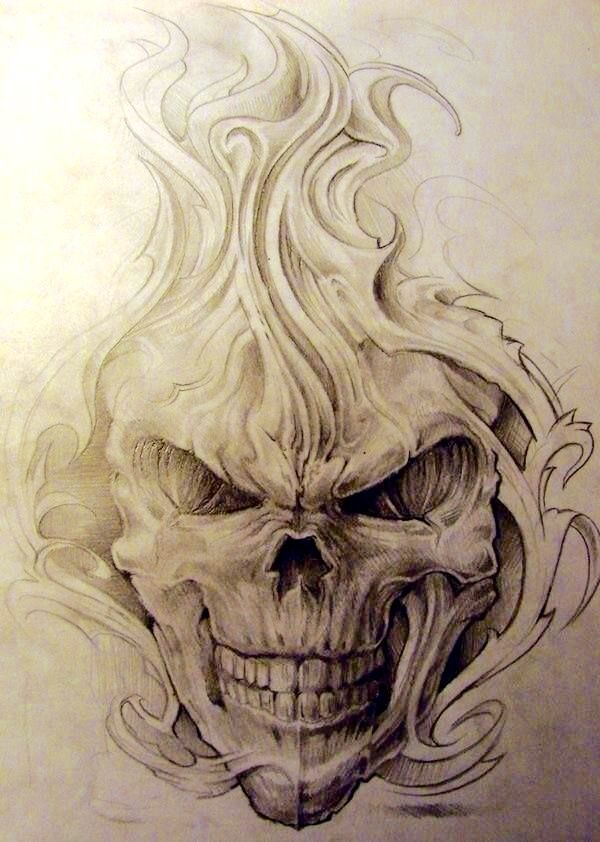 Pin By Norbert Vargas On Art Skulls Drawing Skull Tattoo Design Evil Skull Tattoo