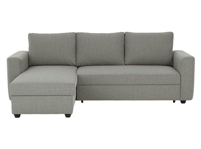 Aidian Canape Lit D Angle Avec Compartiment De Rangement Gris Argente Sofa Bed Design Sofa Bed Corner Storage