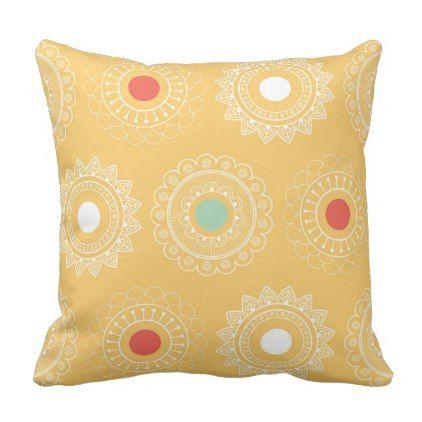 Yellow Decorative & Throw Pillows | Zazzle