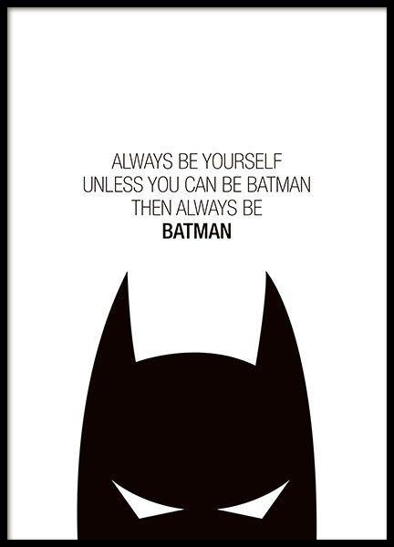 Póster Con Texto De Batman Cartel Batman Dormitorio