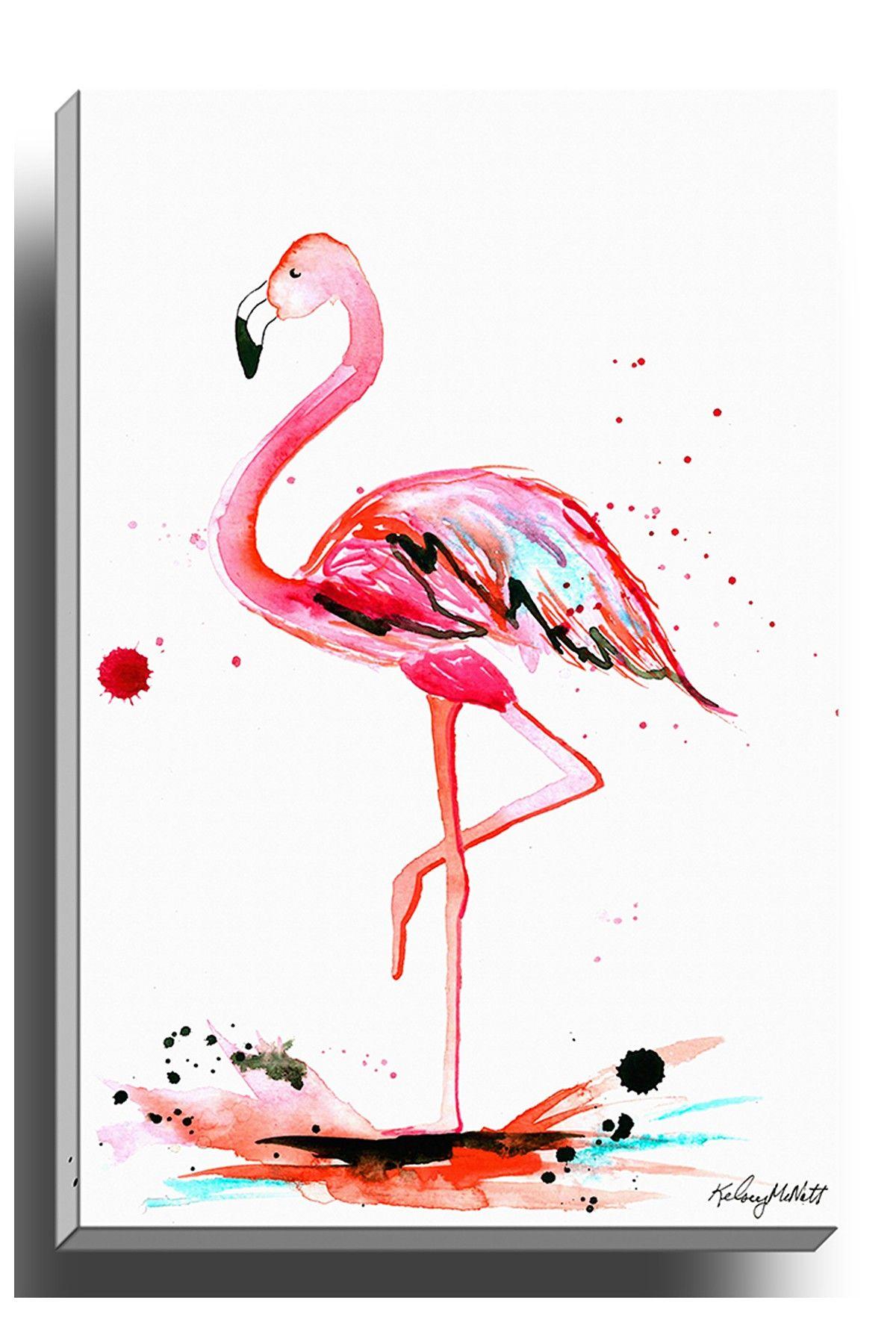 On Hautelook Pink Flamingo Canvas Wall Art Flamingo Painting Flamingo Wall Art Flamingo Art Print