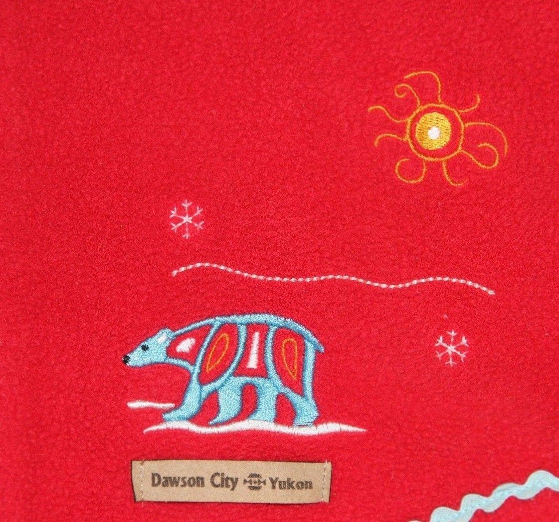f61a7f45dab6f Inuk Fleece Jacket Dawson City Yukon Inukshuk Polar Bear Igloo Red Girl s 9