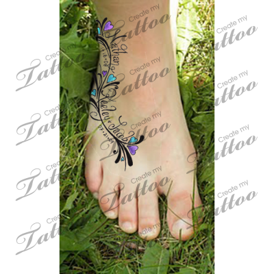 Tattoo With Children S Names 2 31200 Createmytattoo Com Tattoos With Kids Names Tattoos Tattoos For Kids