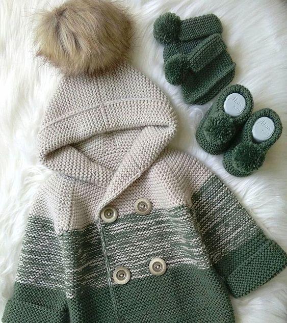 Tanz der Farben grüne Strickjacke #crochetbabycardigan