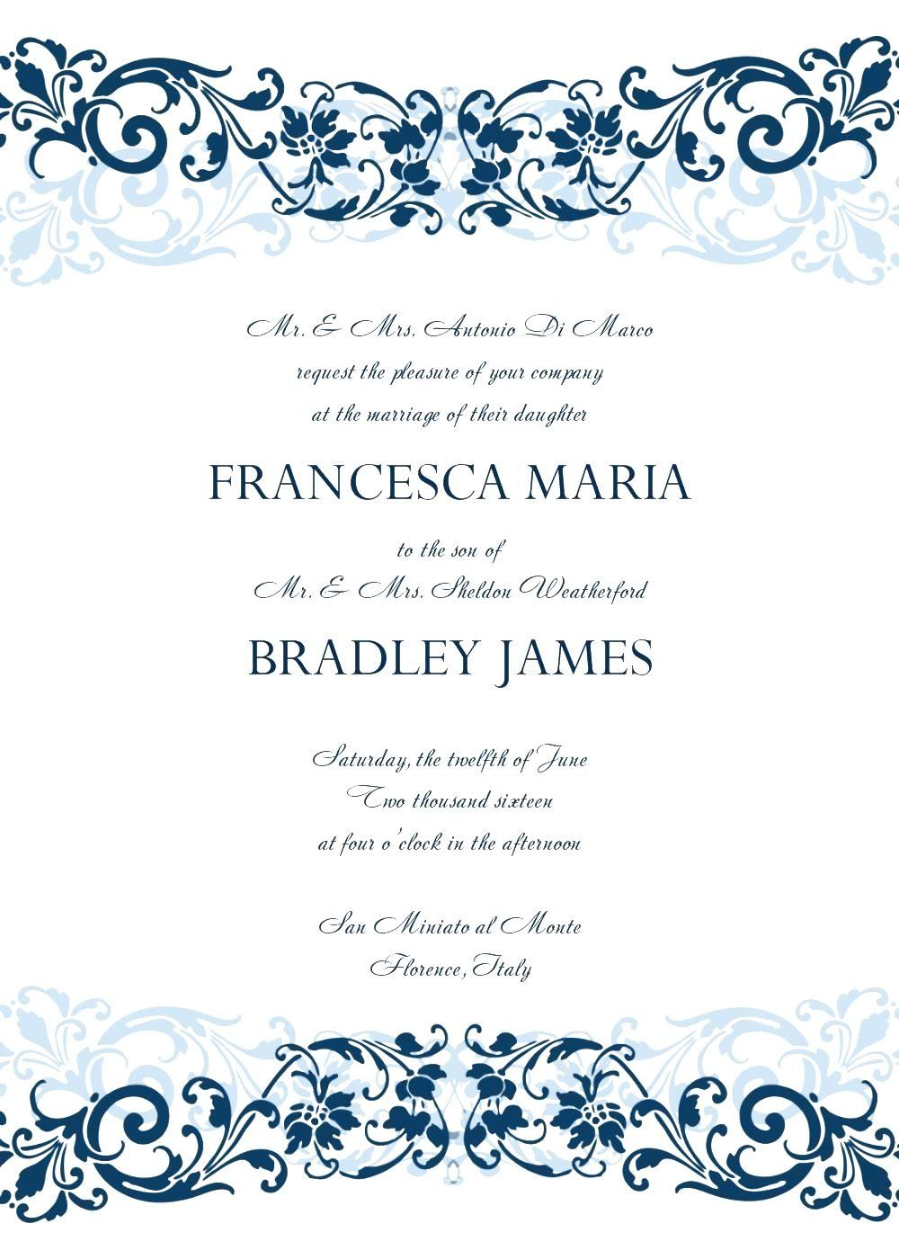 4 New Design and Create A formal Invitat in 4  Free wedding