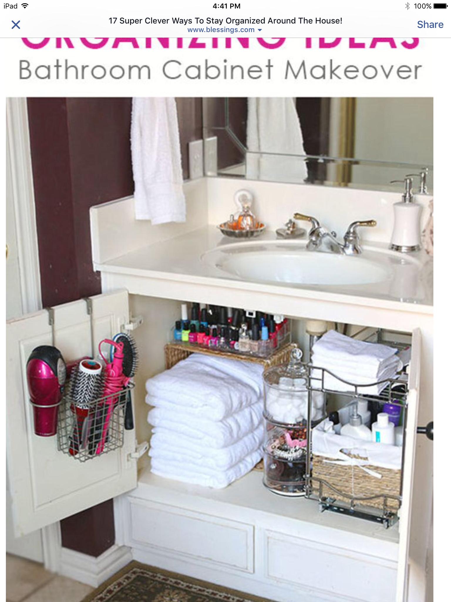 Pin by Tina Hurston on Organization bathroom | Pinterest ...
