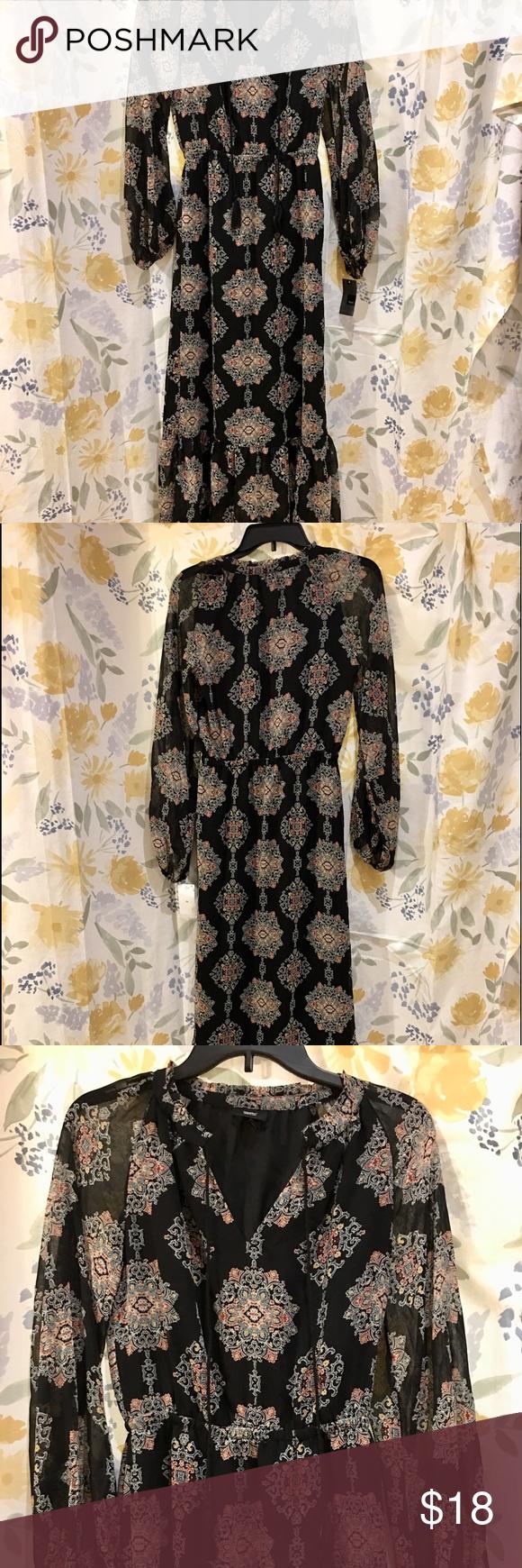 Xhilaration Women S Long Sleeve Maxi Dress Long Sleeve Maxi Dress Dresses Clothes Design [ 1740 x 580 Pixel ]