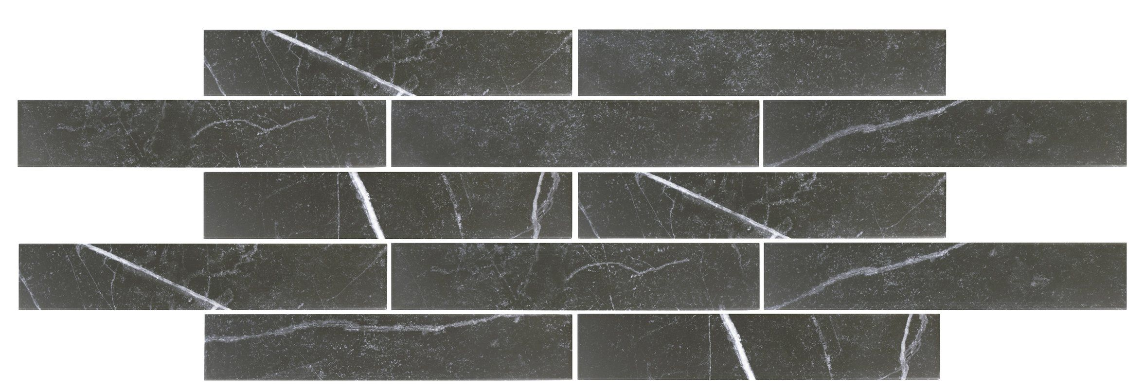 Delos 3 13 X 17 38 Porcelain Field Tile In Black Natural Stone Tile Tile Floor Bathroom Flooring