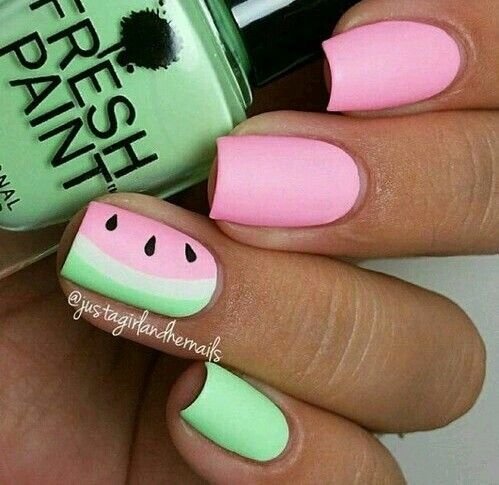 Pin by bella herkel on nail art pinterest beautiful summer nail designs picture 5 more simple watermelon prinsesfo Images