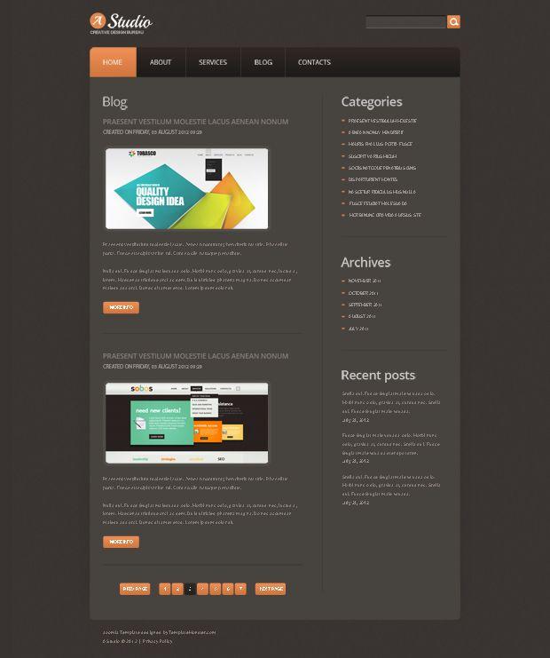 Free joomla design studio template webdesign httpwww free joomla design studio template webdesign httptemplatemonster pronofoot35fo Gallery