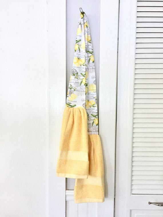Best Lemon Kitchen Boa Gray Yellow Kitchen Scarf Farmhouse 400 x 300