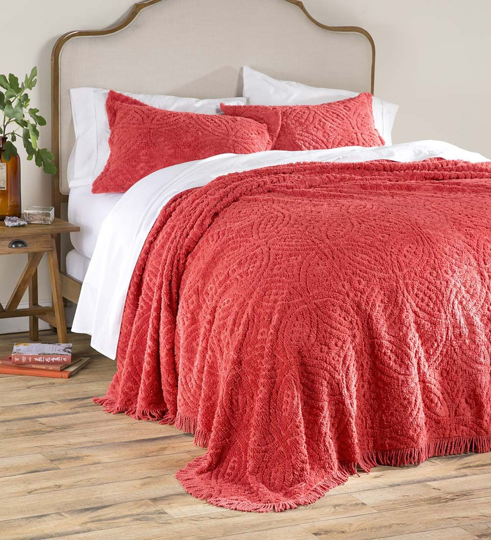 King Wedding Ring Tufted Chenille Bedspread Bedspreads Wish List