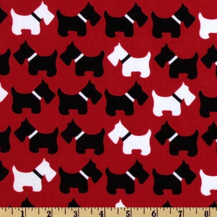 Scottish Terrier 100/% cotton printed fabric  scottie dog