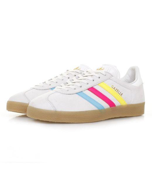 size 40 61589 4fc21 Adidas Originals  Adidas Gazelle White Cyan Shoe  Lyst