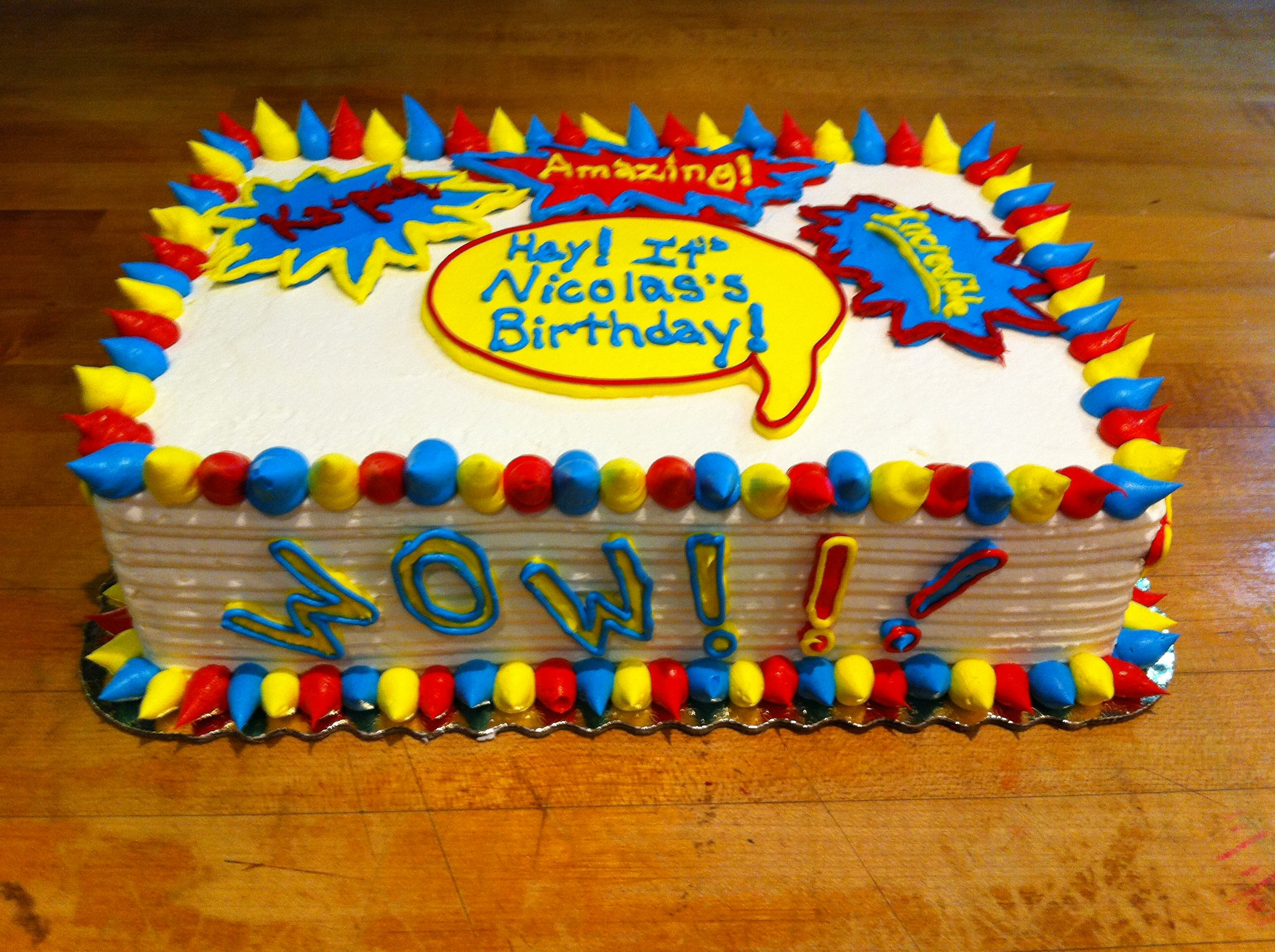 Comic Book Cake With Images Book Cake Cake Sweets