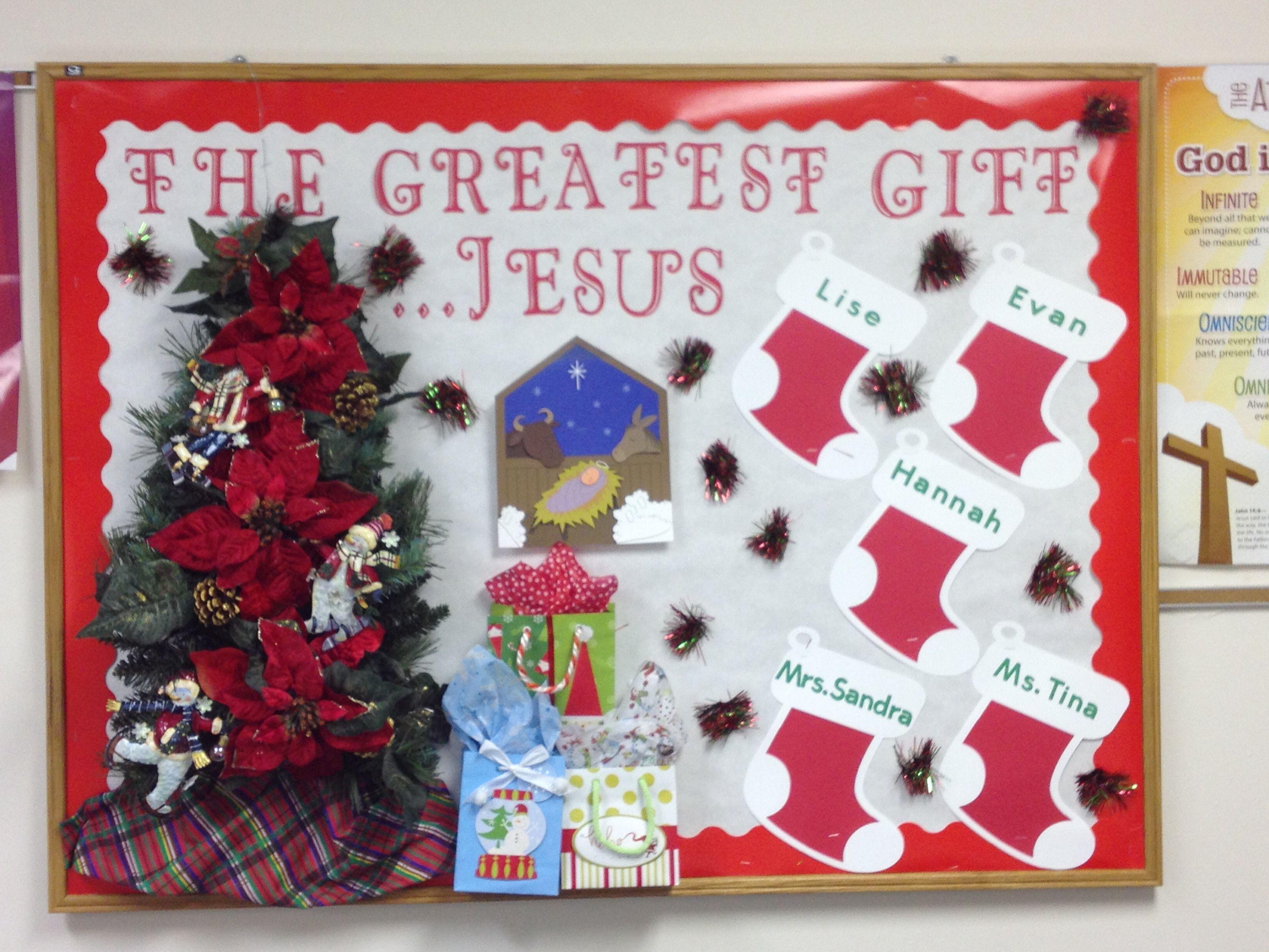 Christmas Bulletin Board By Tina Preston Childrens Crafts